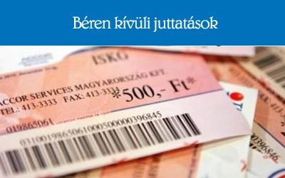 Cafeteria: a 2015-ös adócsomag miatt drágul béren kívüli juttatás is